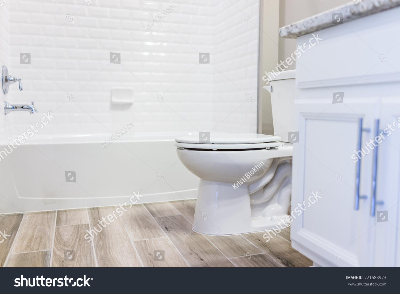 Modern White Plain Clean Toilet Bathroom Stock Photo (Edit Now ...