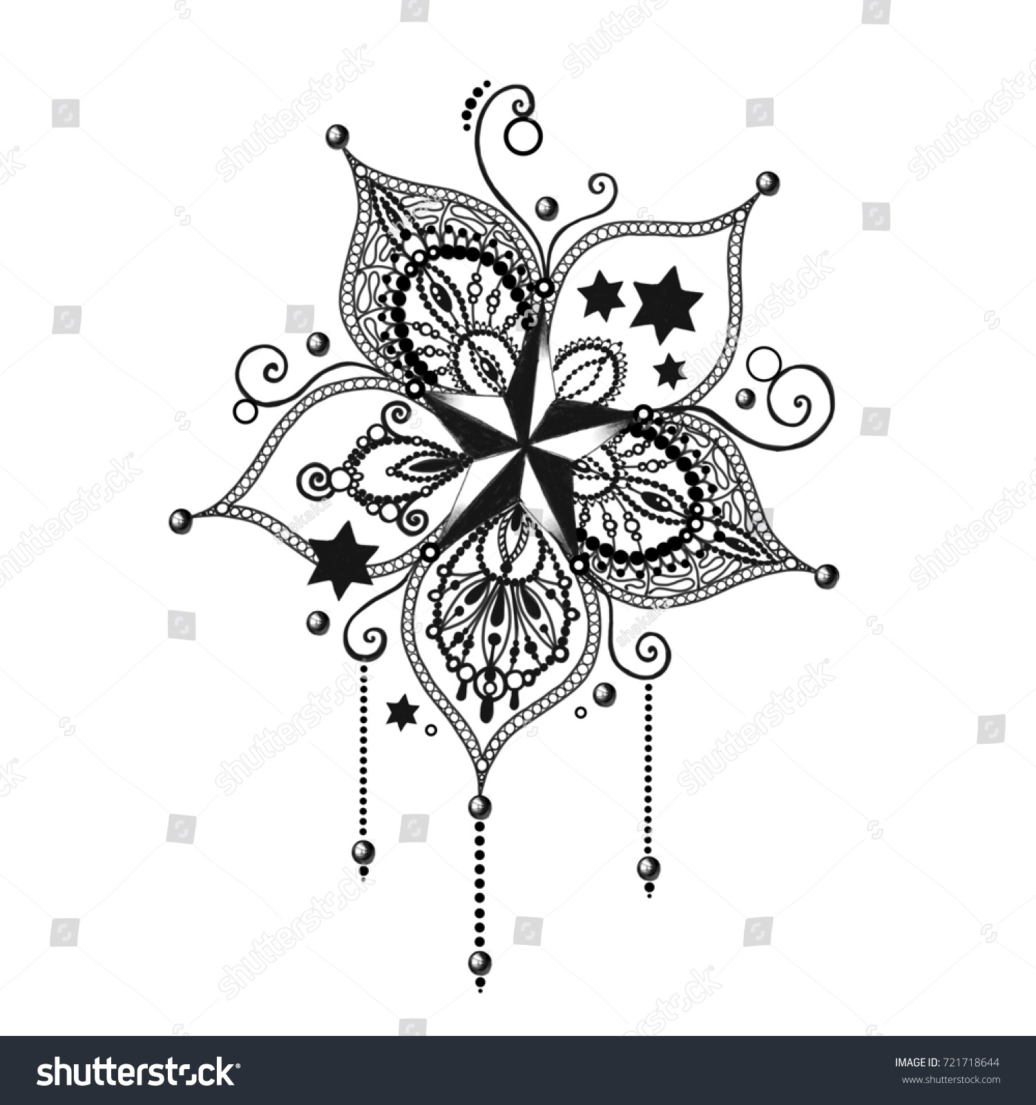 Mandala tattoo hand drawn lotus flower stock illustration 721718644 mandala tattoo hand drawn lotus flower sacred symbol izmirmasajfo