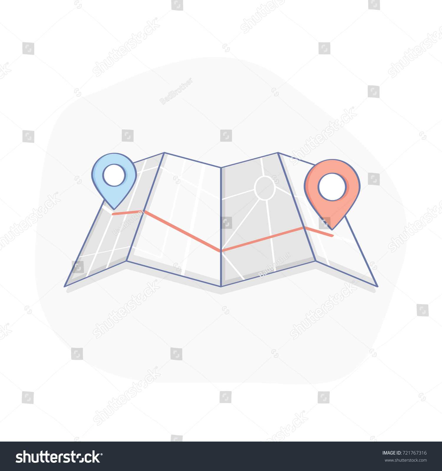 gps route location icon map geo stock vector 721767316 shutterstock