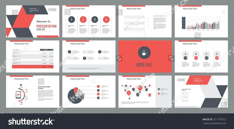 page layout design template presentation slide のベクター画像素材