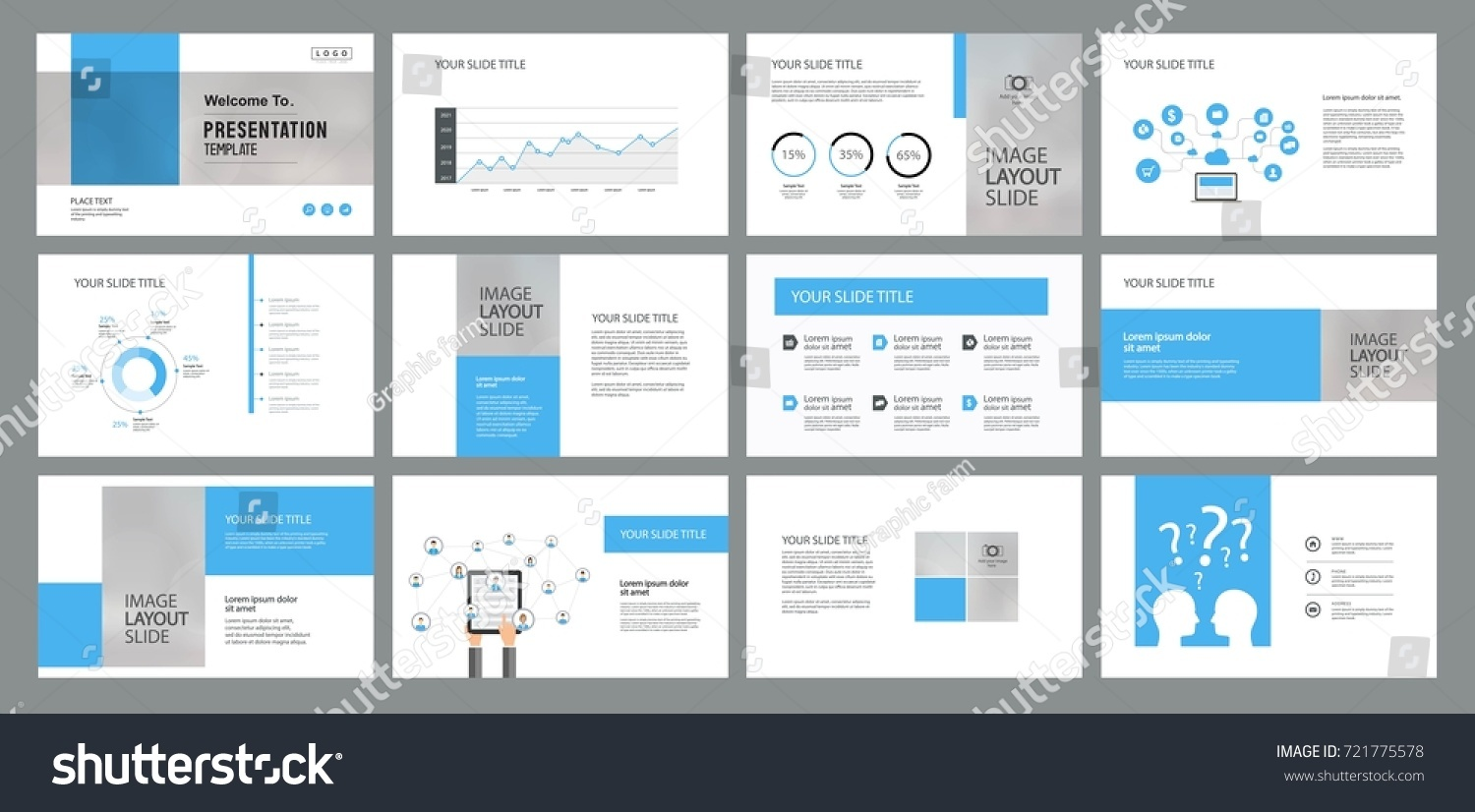 page layout design template for presentation slide and brochure with info graphic elements design