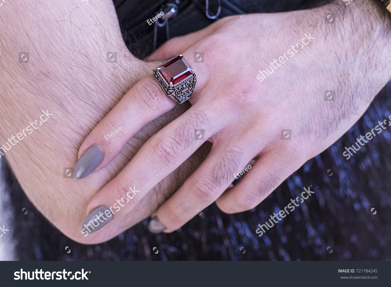 FASHION Nails NAIL ART Trendy Rings Stock Photo (Royalty Free ...