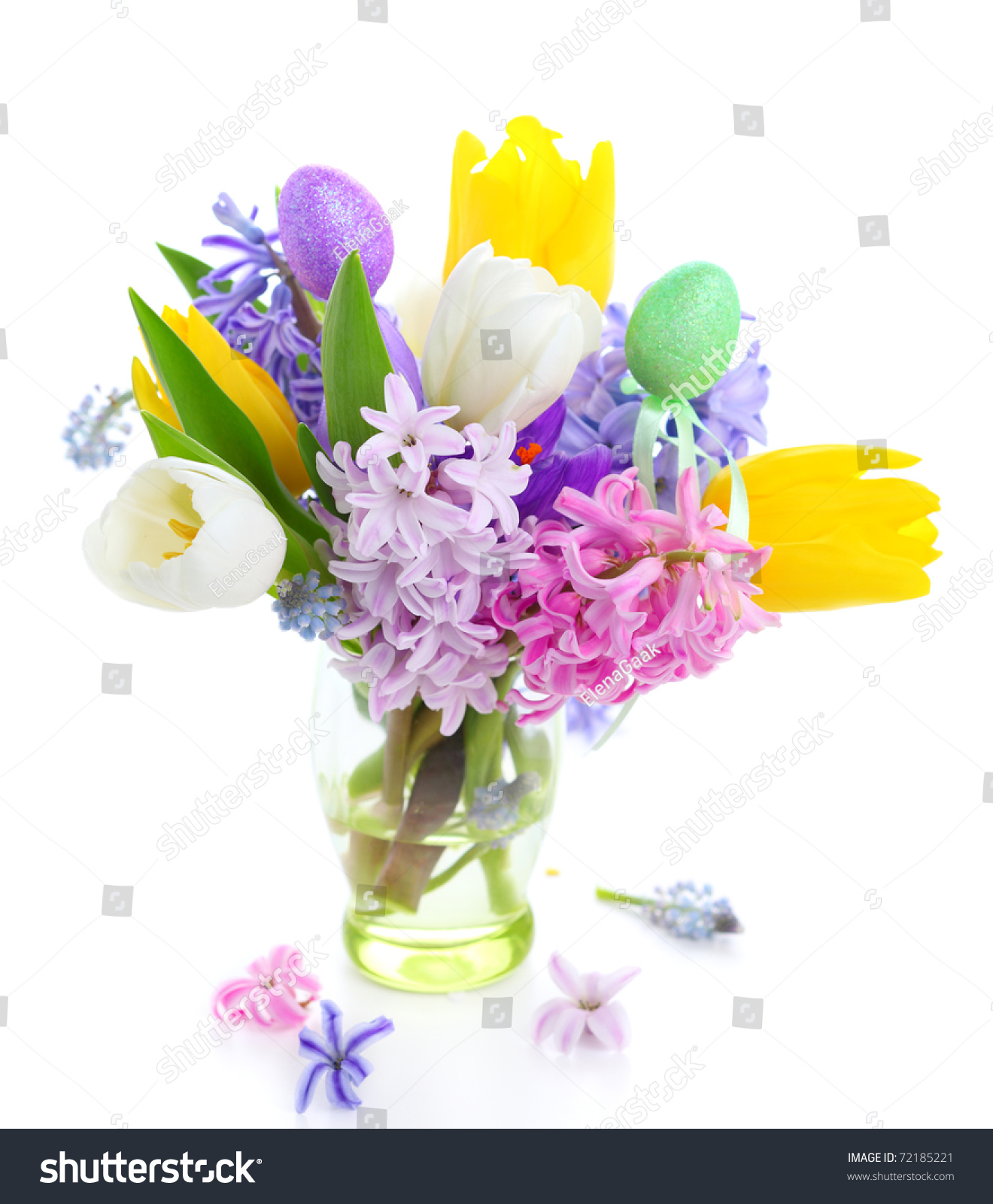 Bouquet spring flowers isolated on white stock photo 72185221 bouquet spring flowers isolated on white backgroundcrocus hyacinth tulip dhlflorist Choice Image