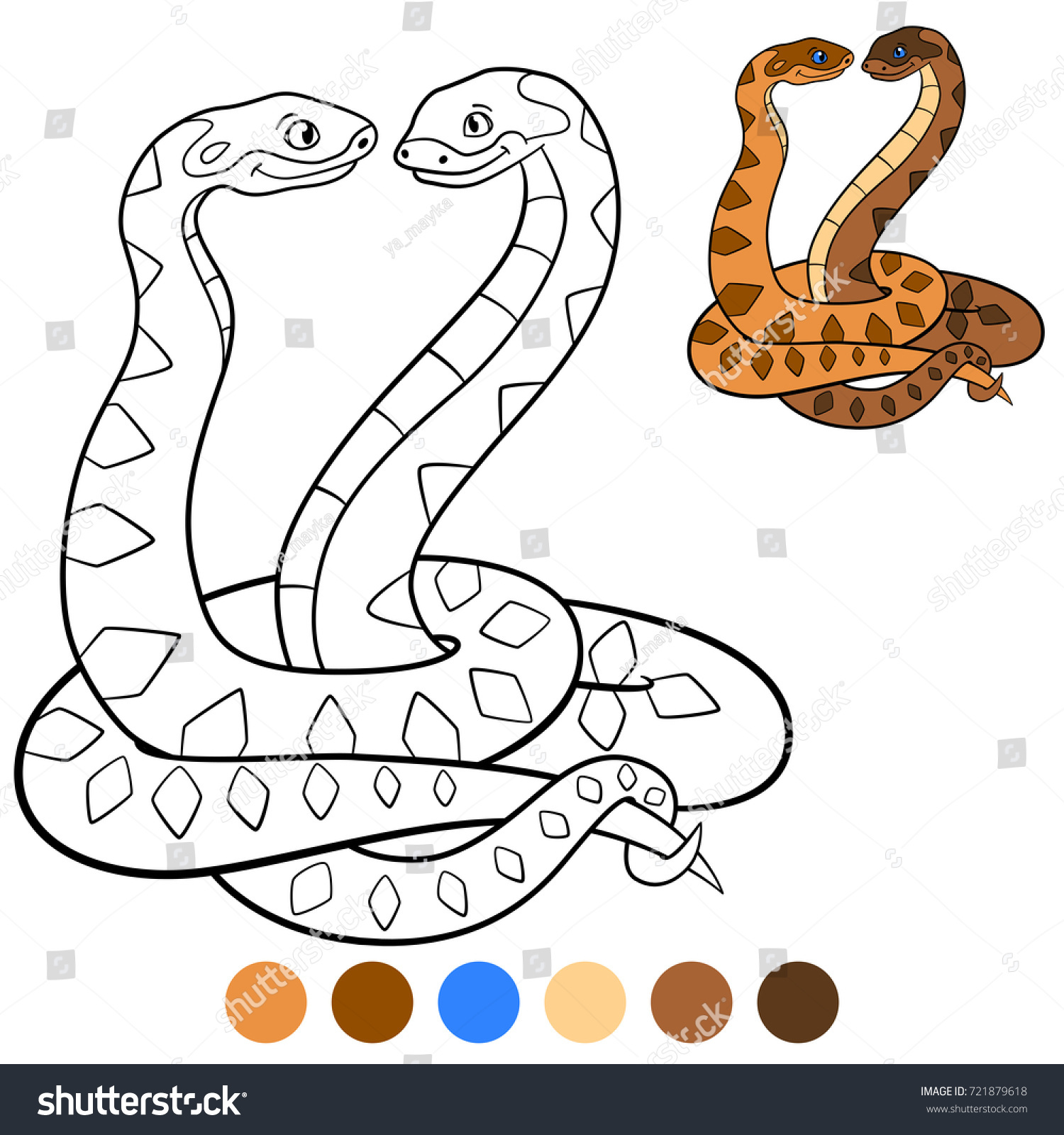 color me viper two cute vipers stock vector shutterstock