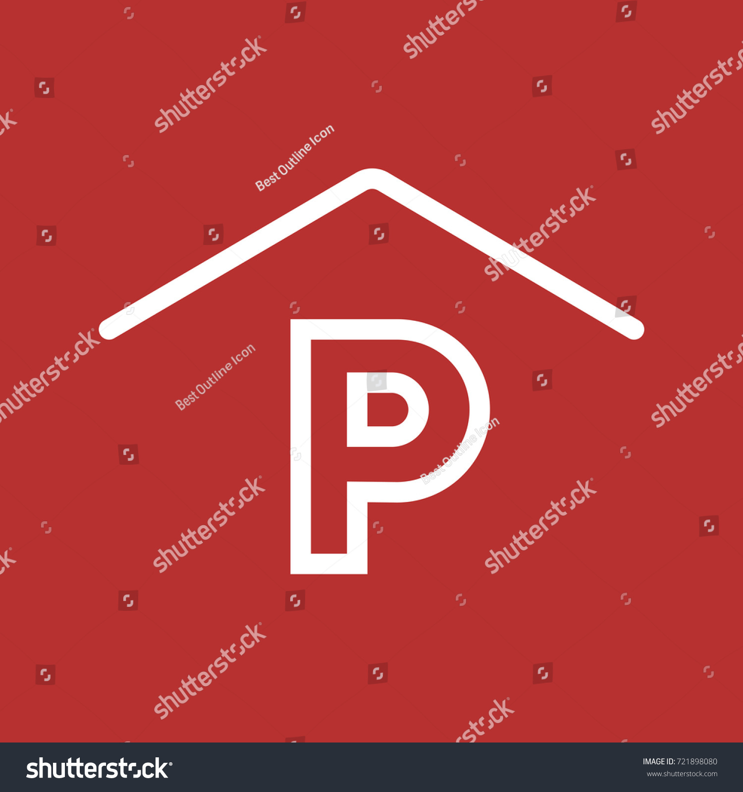 Parking Vector Icon Car Parking Symbol Stock Vector 721898080