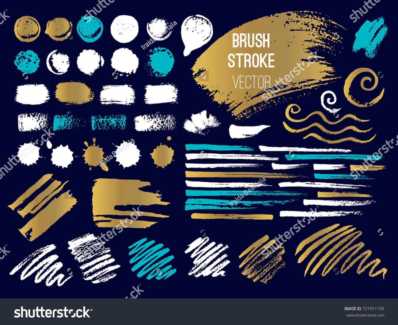 set stroke spot brush pen marker stock vector royalty free