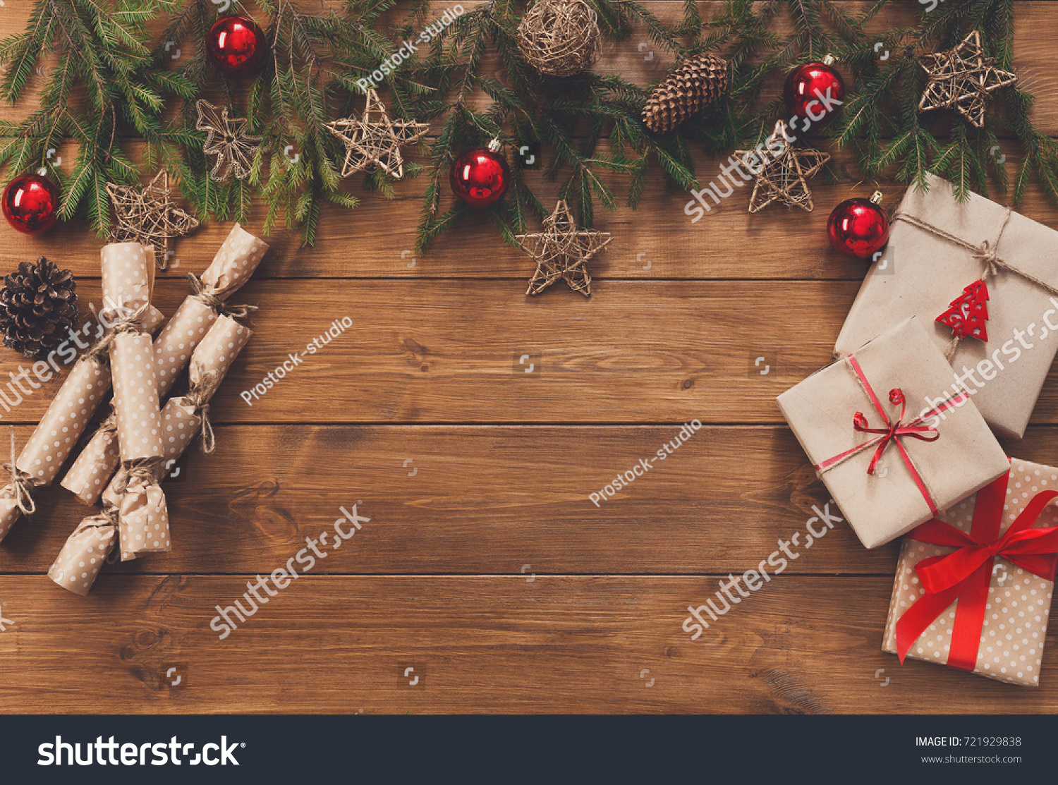 Christmas Decoration Gifts Candies Boxes Craft Stock Photo (Edit Now ...