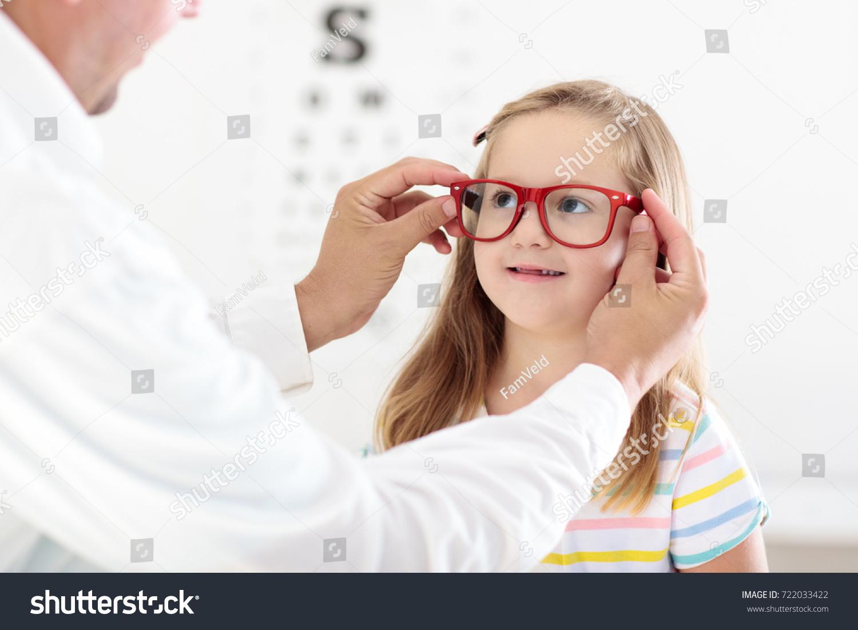 Child Eye Sight Test Little Kid Stock Photo Edit Now 722033422