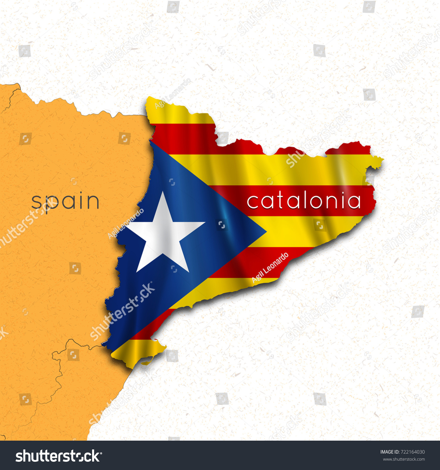 Royalty Free Stock Illustration Of Map Catalonia Spain Independence