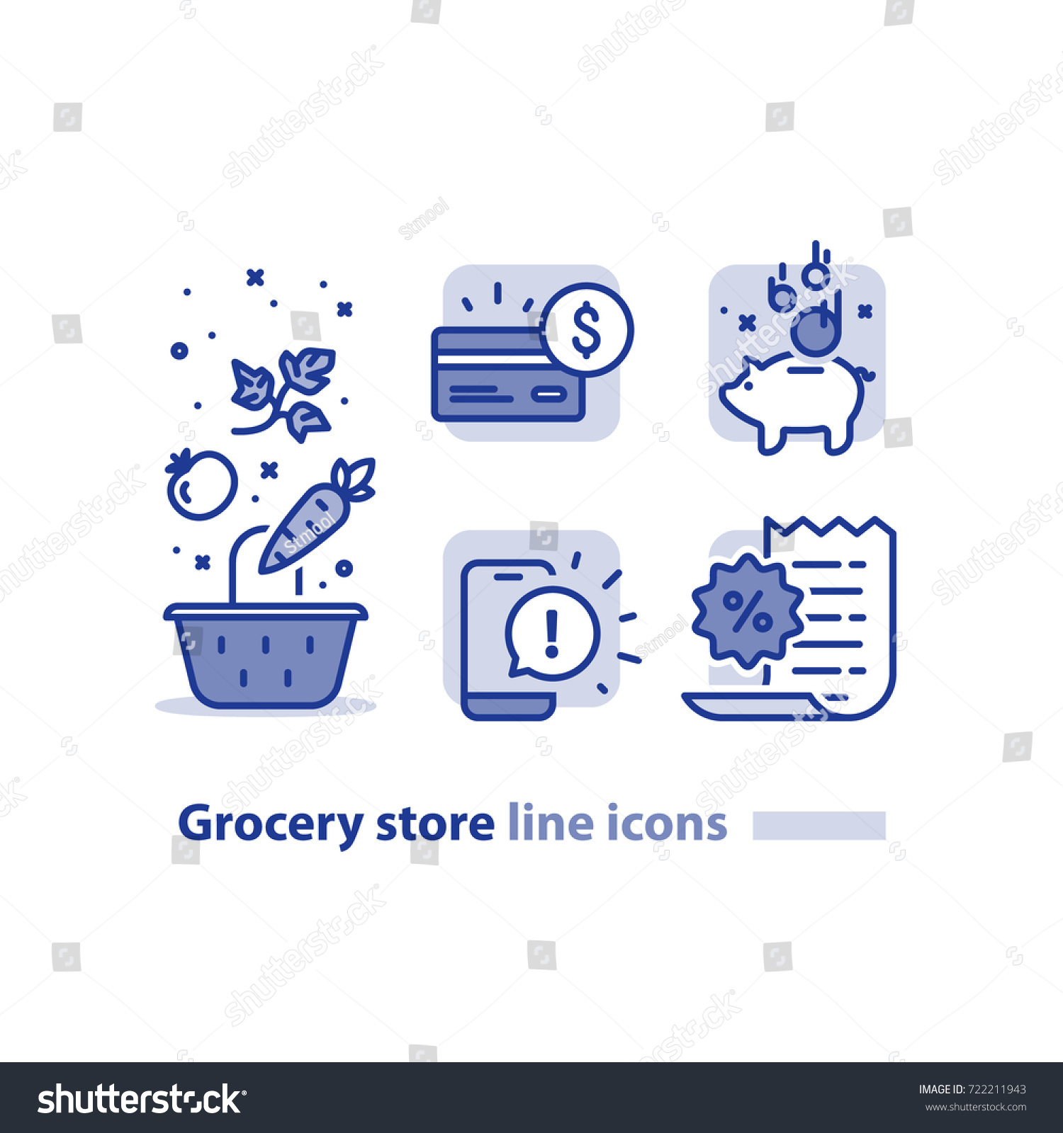 Grocery store coupons on phone