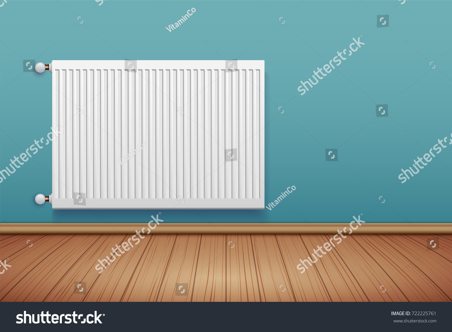 Metal Heating Radiator Room Modern Central Stock Vector (Royalty ...