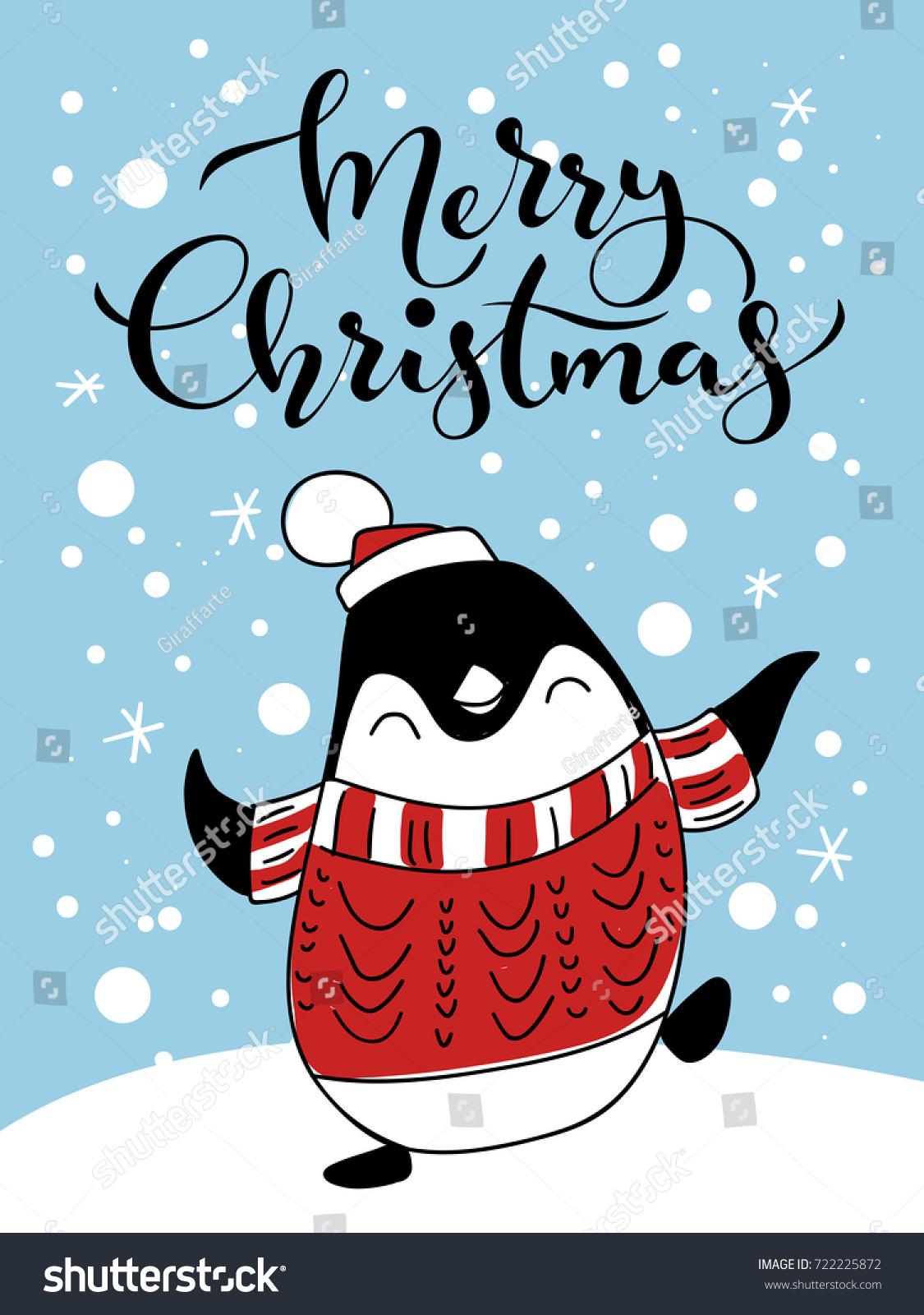 vector holiday christmas greeting card dancing stock vector