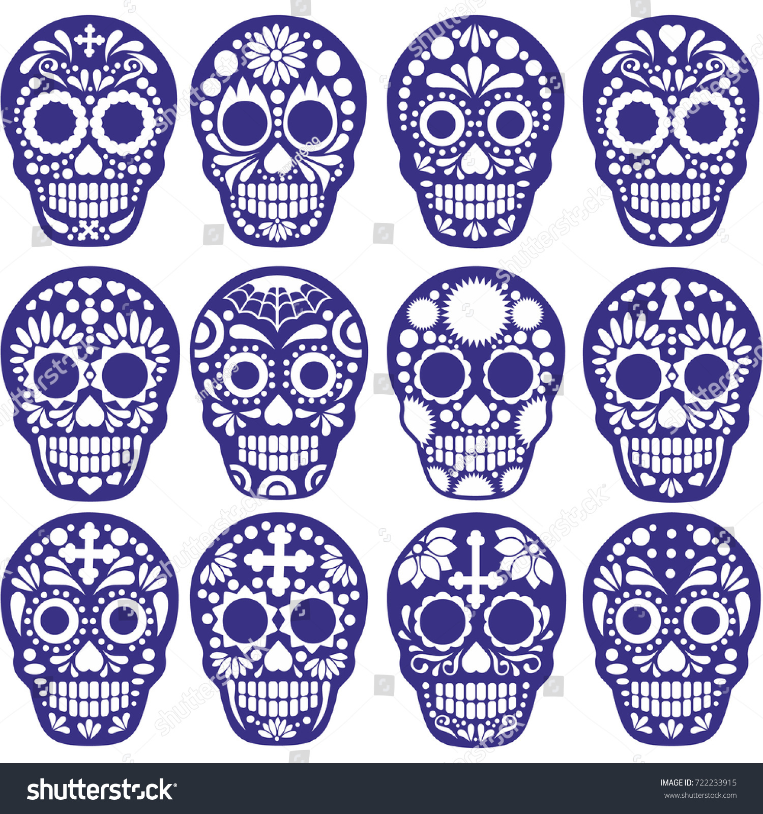 sets holy death day dead mexican stock vector royalty free
