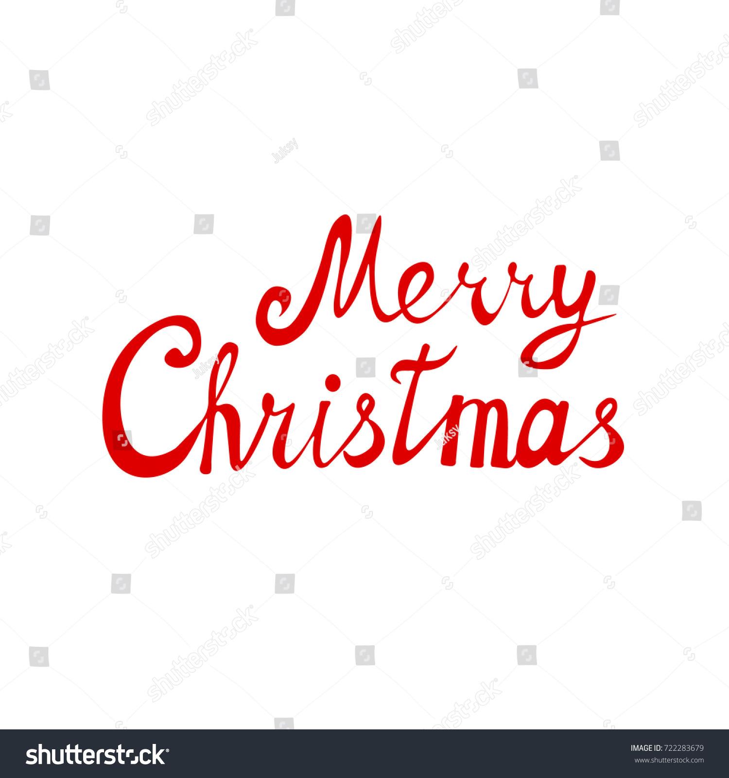Merry Christmas Lettering Vector Logo Text Stock Vector