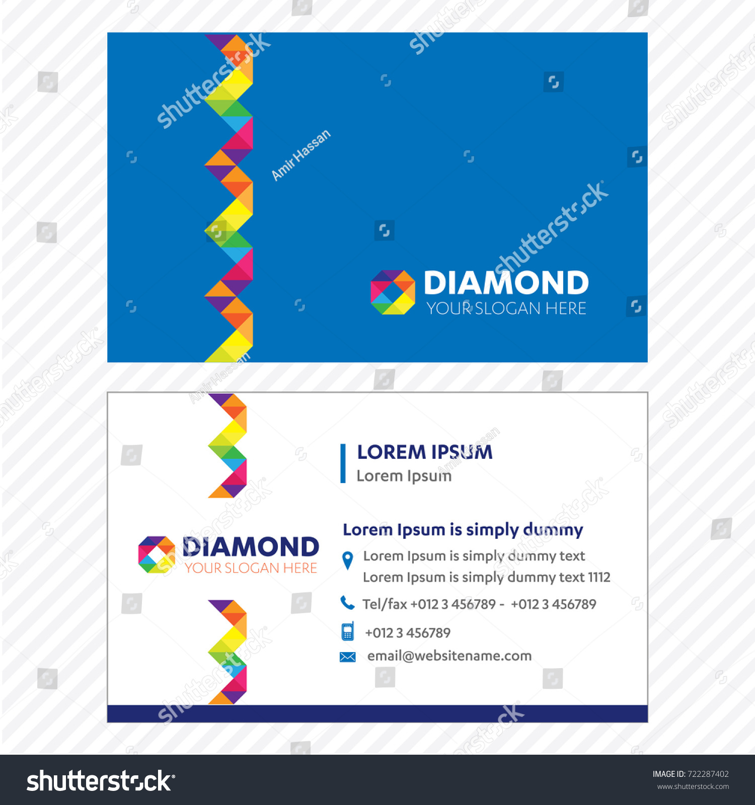 business card vector template tech logo stock vector