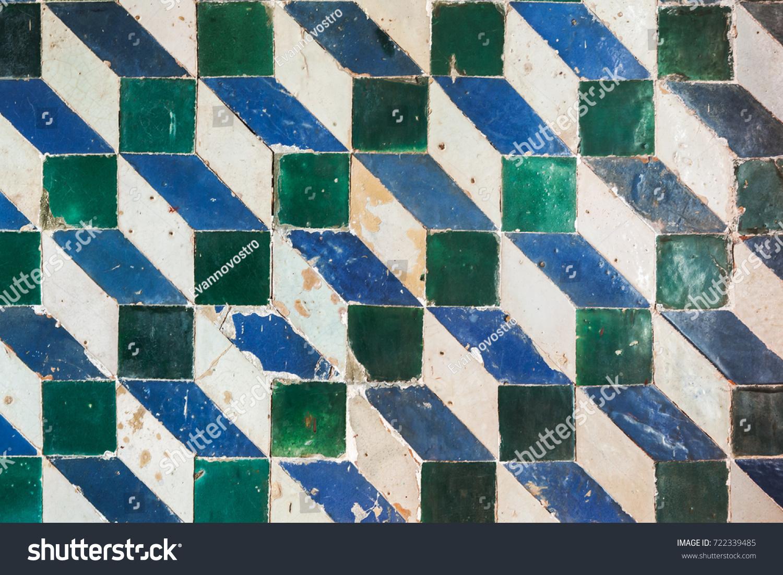 Ancient Decorative Mosaic Pattern Geometric Wall Stock Photo ...
