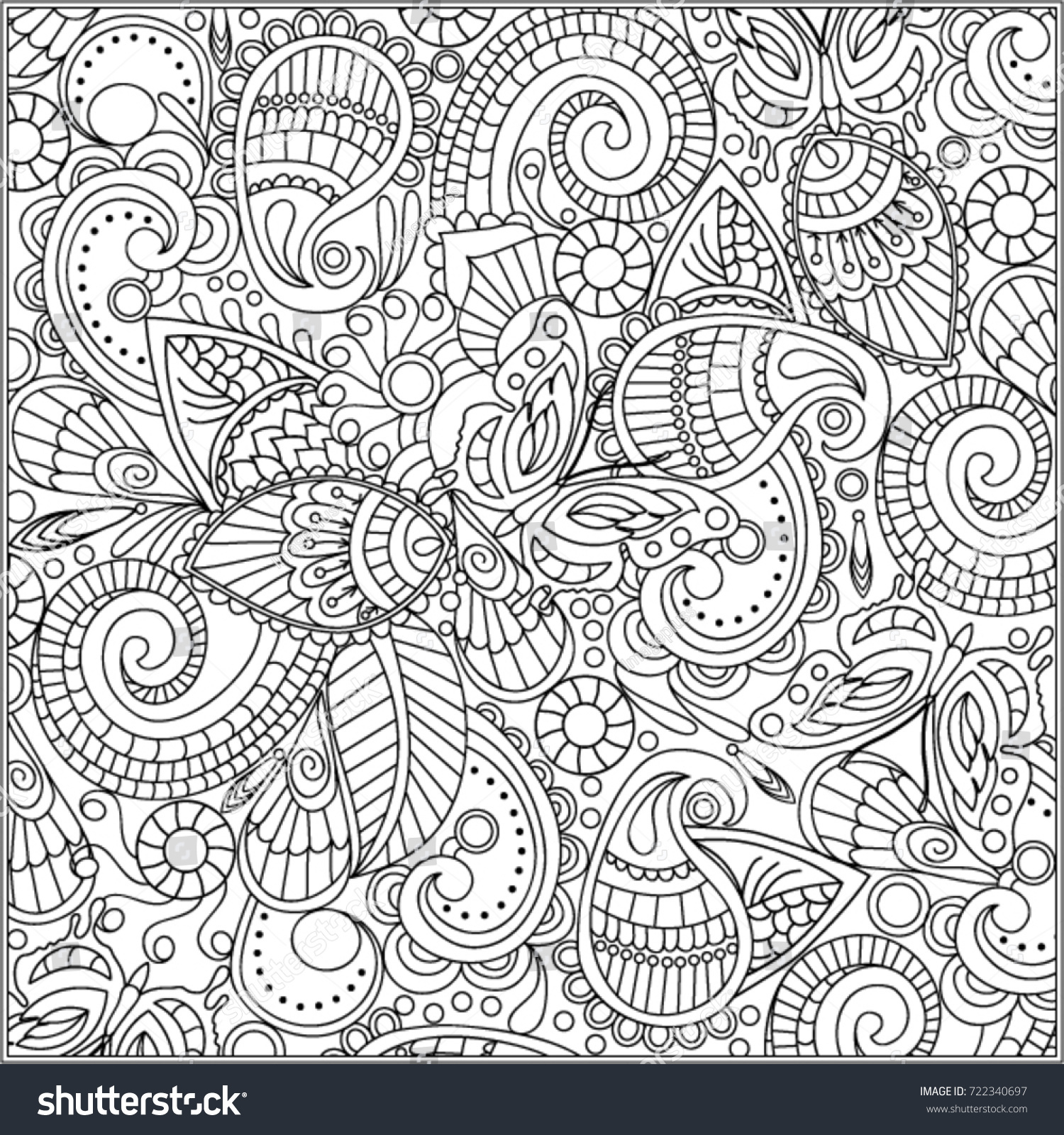 Flower designs coloring book - Flower Coloring Book Page