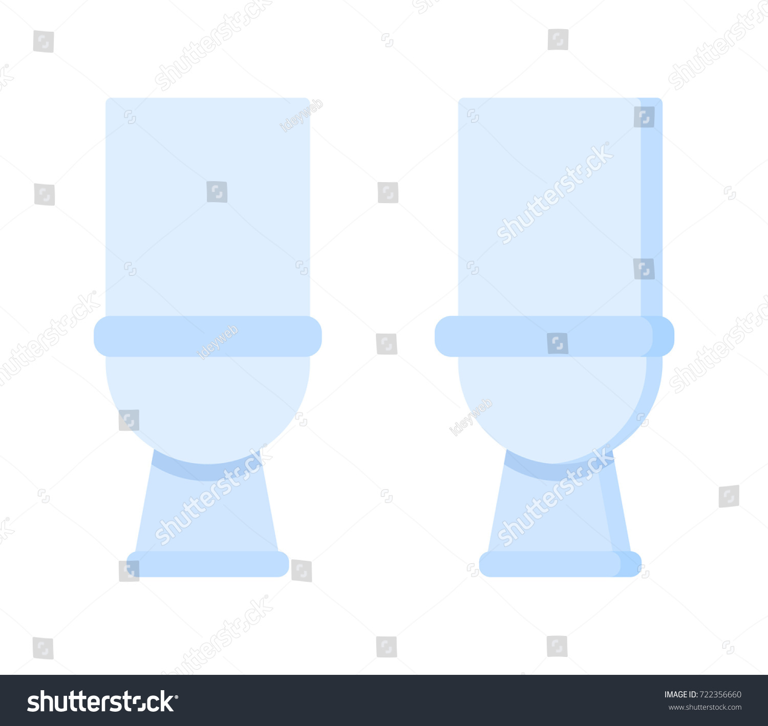 Light Toilet Room Home Furniture White Stock Vector (Royalty Free ...