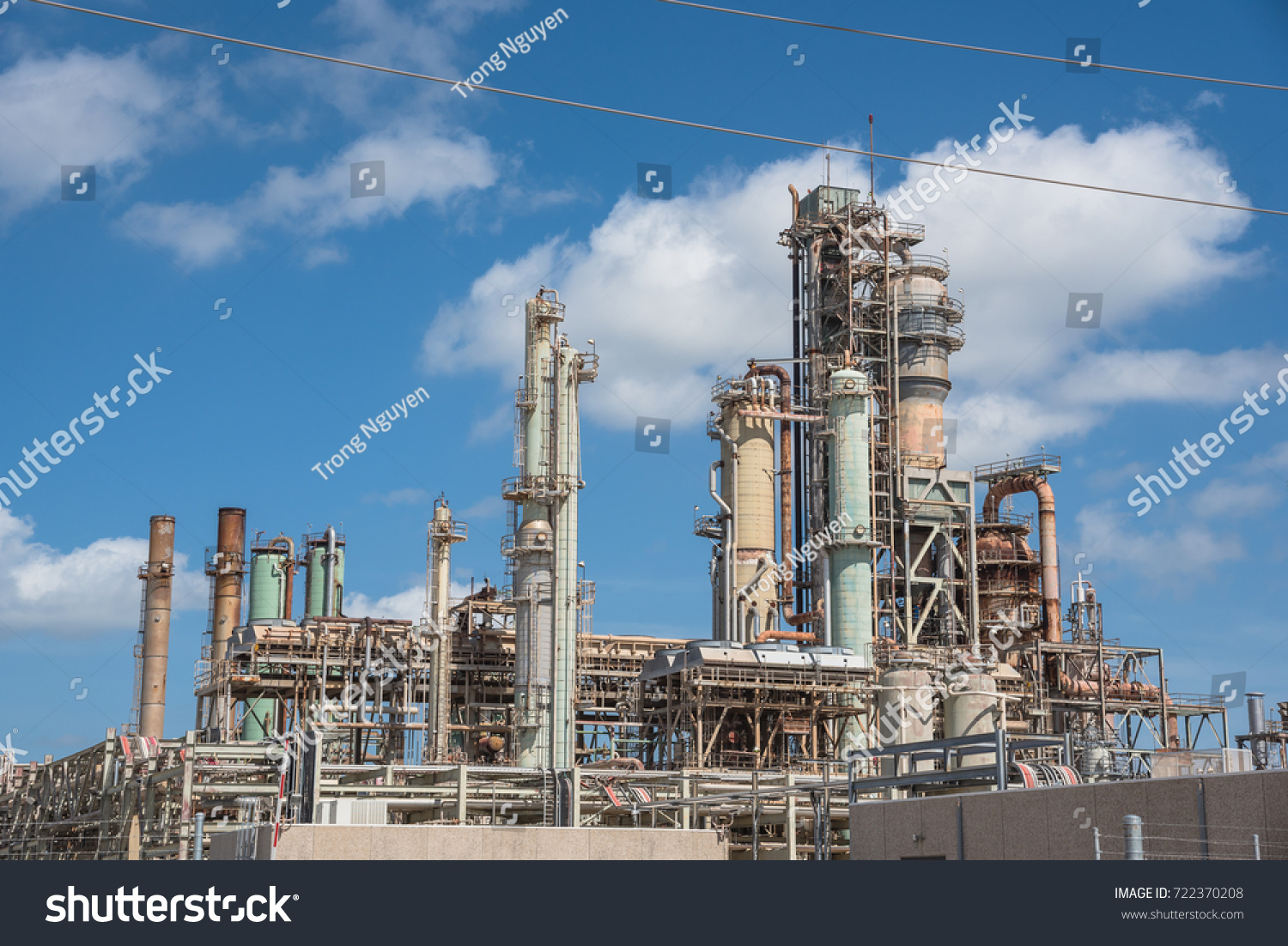 Oil Refinery Oil Factory Petrochemical Plant Stock Photo (Edit Now