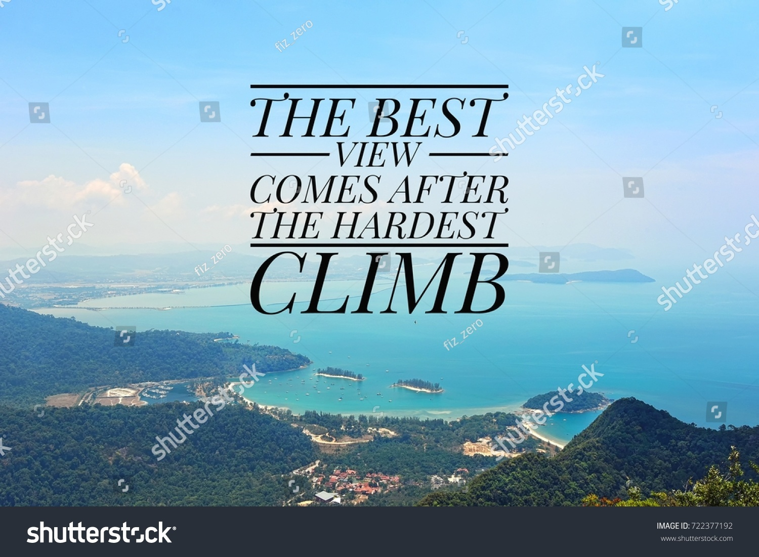 Inspirational Quotes Background Sea View Top Stock Photo Edit Now