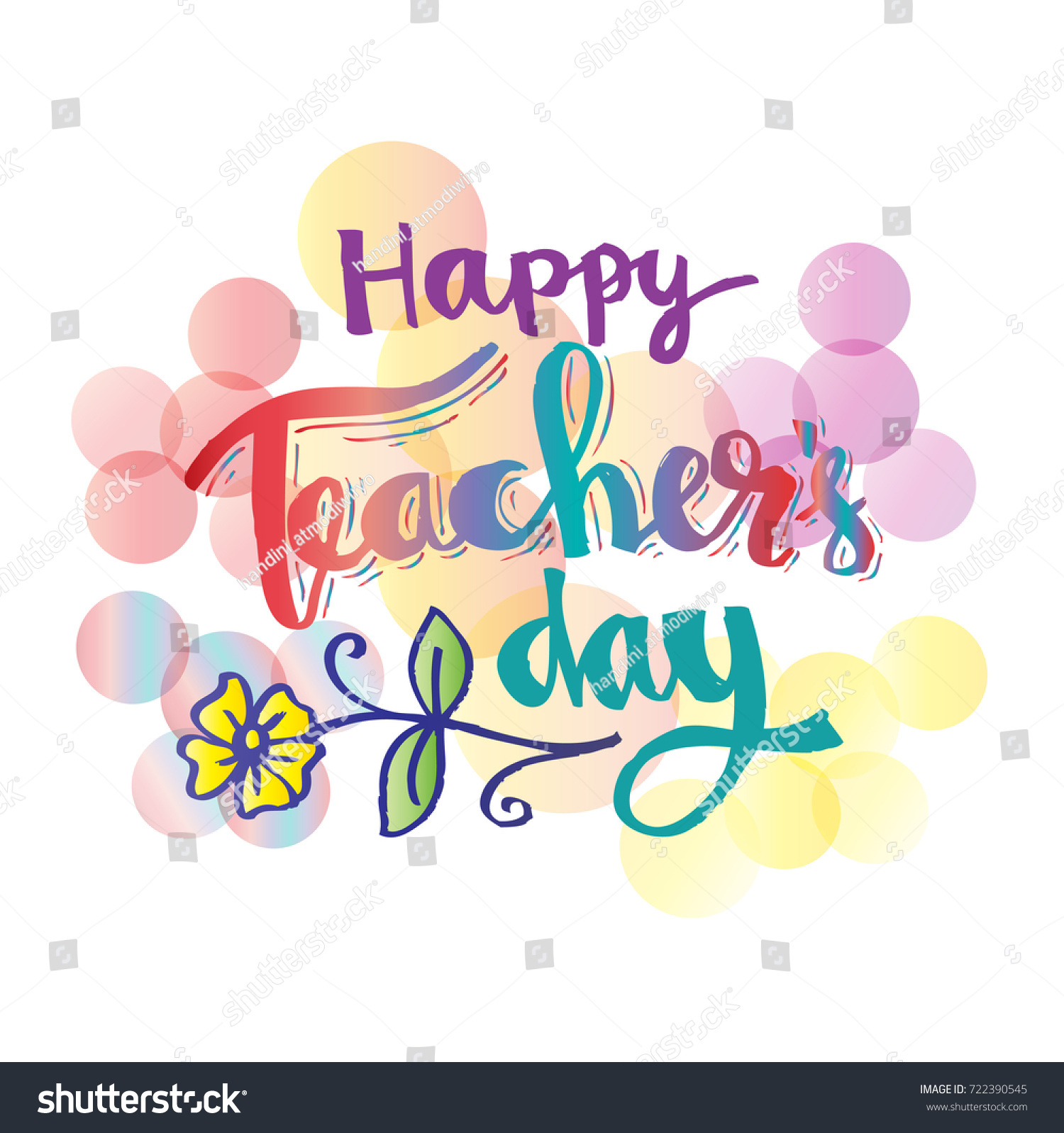 Happy Teachers Day Card Stock Vector 722390545 Shutterstock