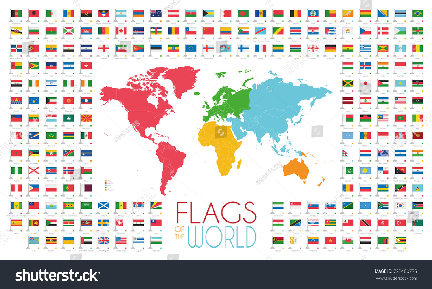 204 world flags world map by vectores en stock 722400775 shutterstock gumiabroncs Images