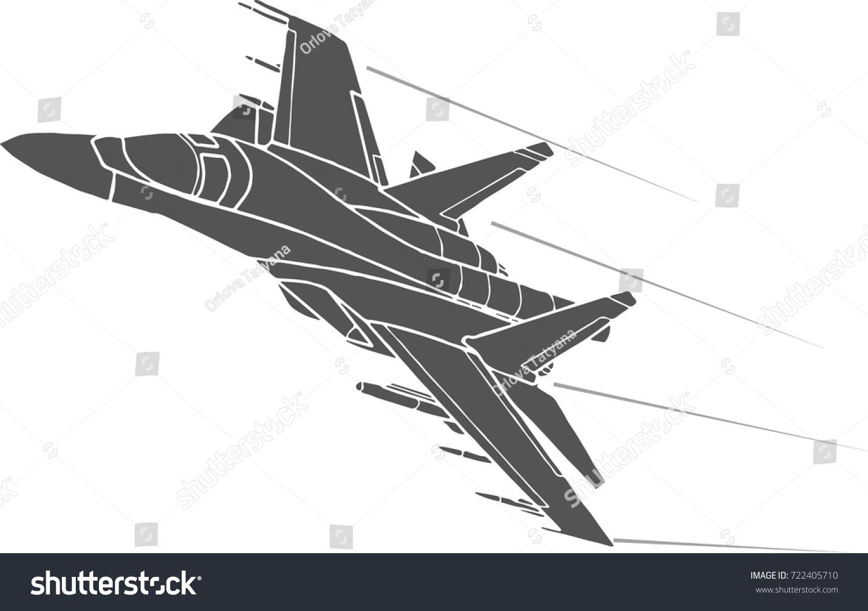 airplane flying high speed stock vector 722405710 shutterstock
