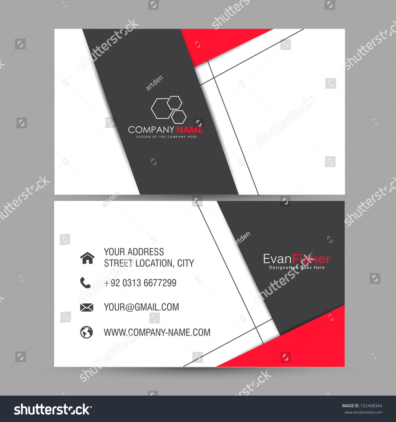 Nice Beautiful Business Card Design Illustration Stock Vector ...