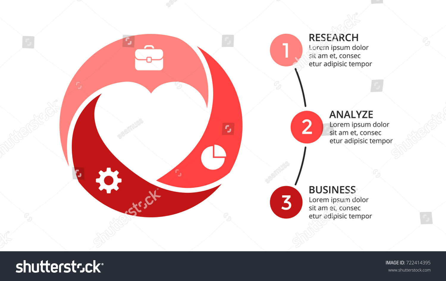 Vector circle heart love infographic cycle stock vector royalty vector circle heart love infographic cycle diagram geometric graph presentation chart business ccuart Gallery