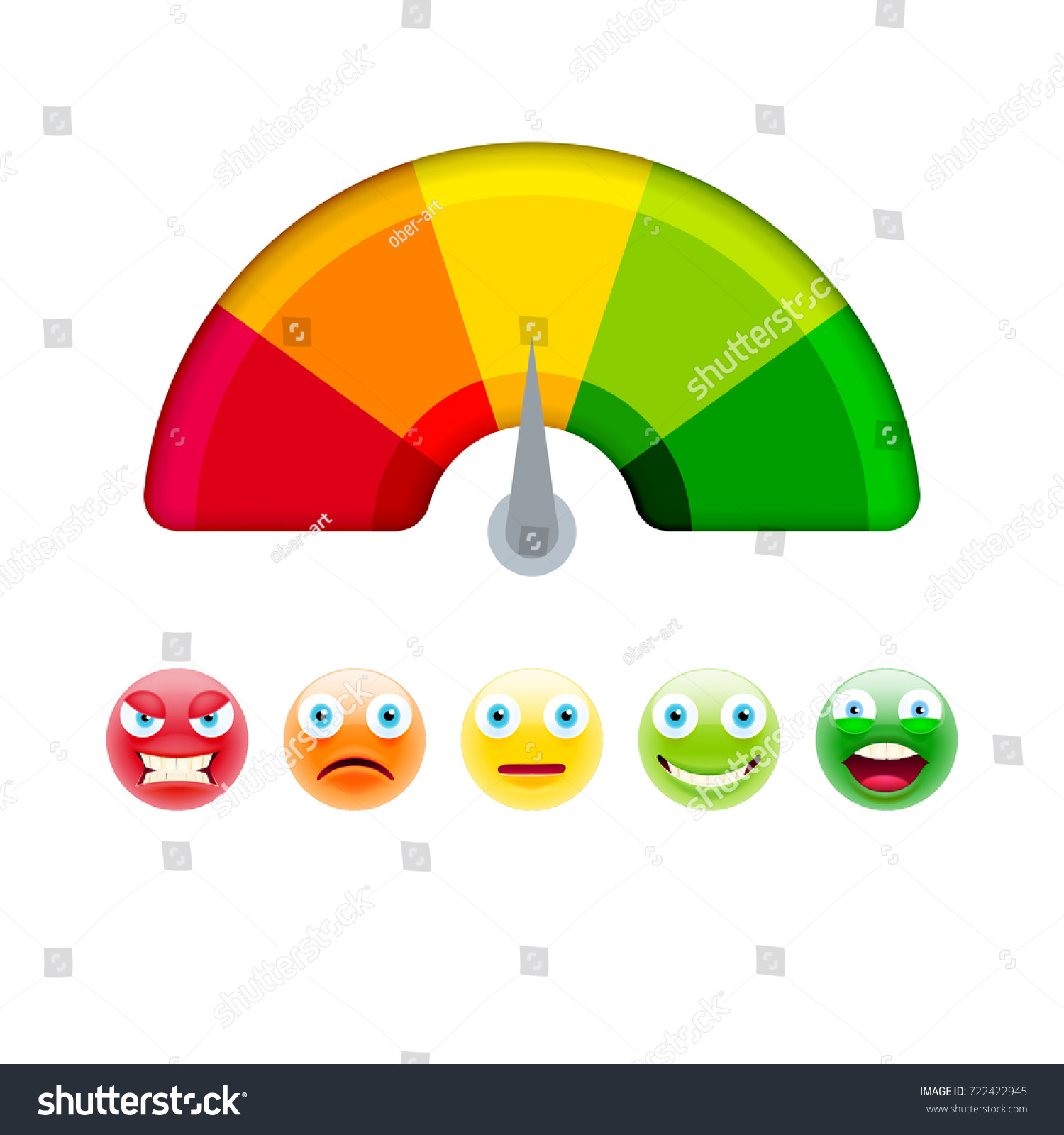 Color Scale Arrow Red Green Scale Stock Vector Royalty Free 722422945