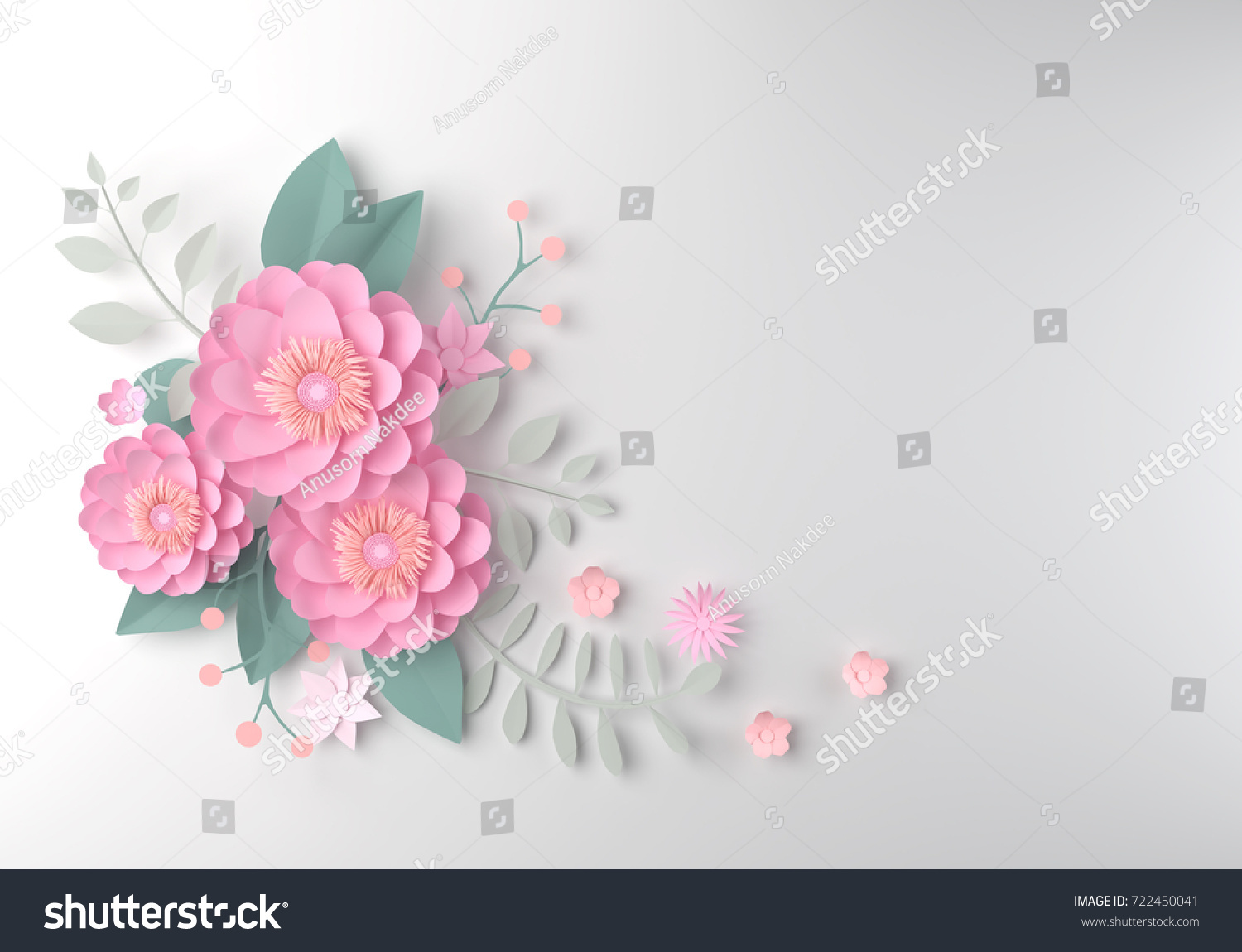 color paper flower wallpaper background abstract stock illustration