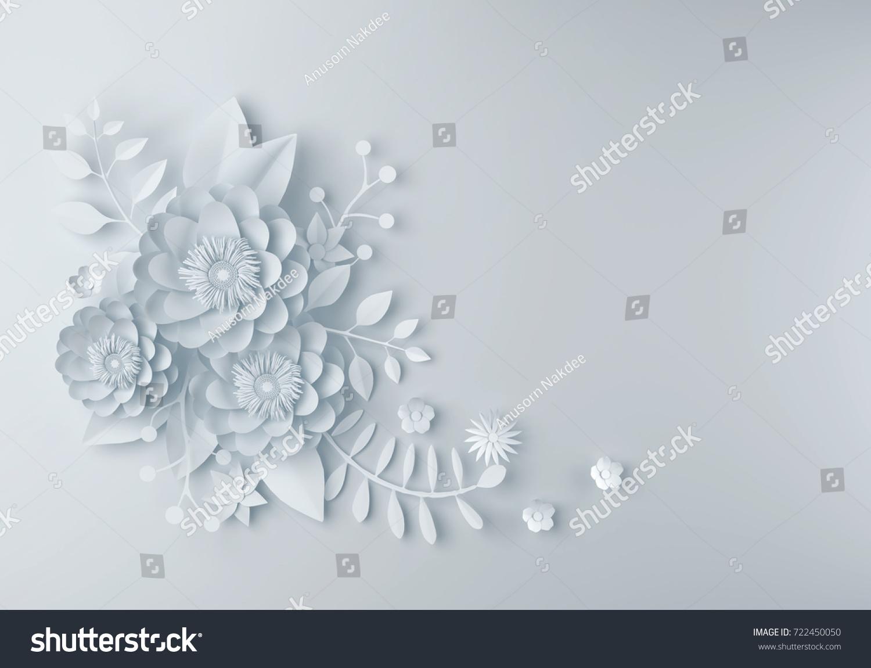 Royalty Free Stock Illustration Of White Paper Flower Wallpaper