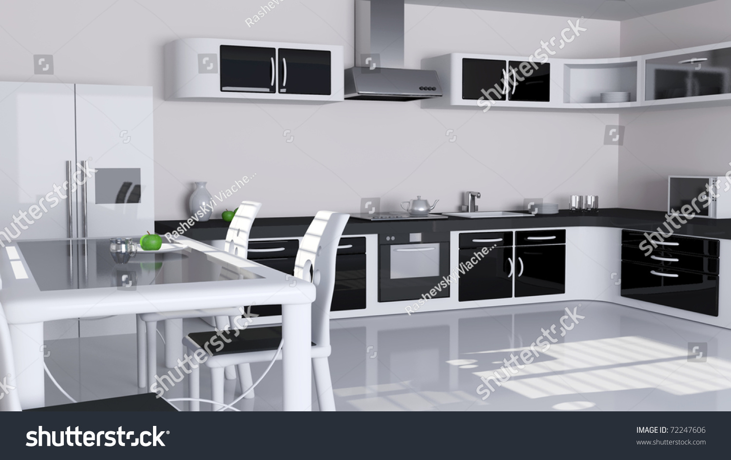 modern kitchen interior in white and black color stock latest kitchen trends in usa for 2016 decoori com