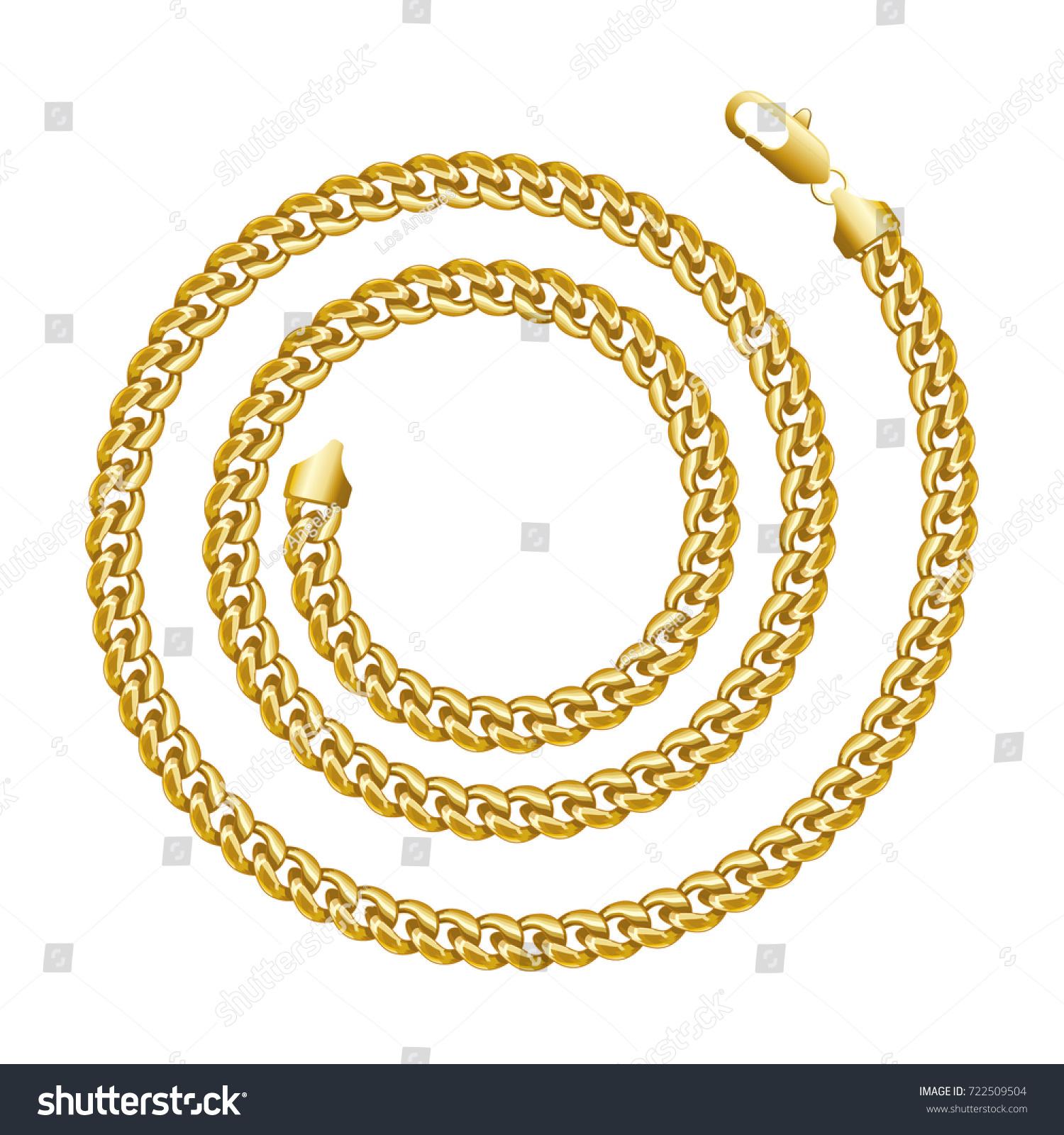 Golden Chain Round Spiral Border Frame Stock Vector 722509504 ...