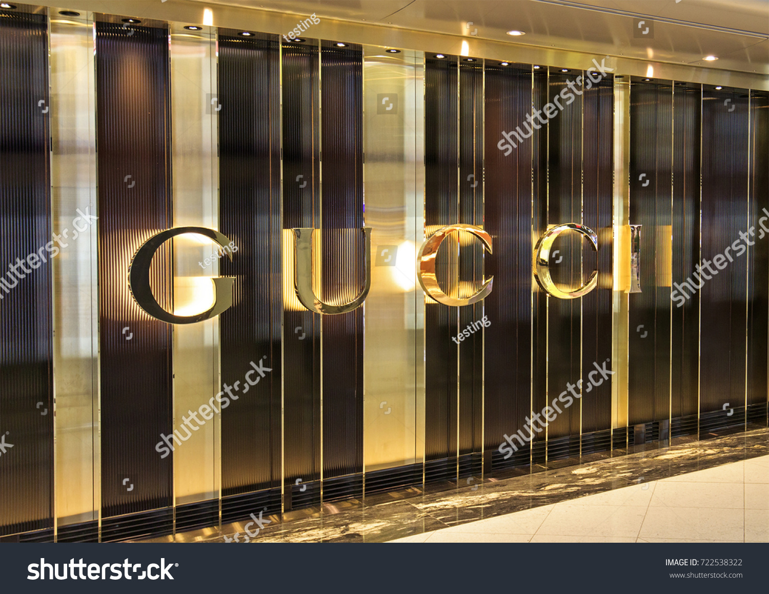 e697073748 Hong Kongaugust 15 2017 Gucci Store Stock Photo (Edit Now) 722538322