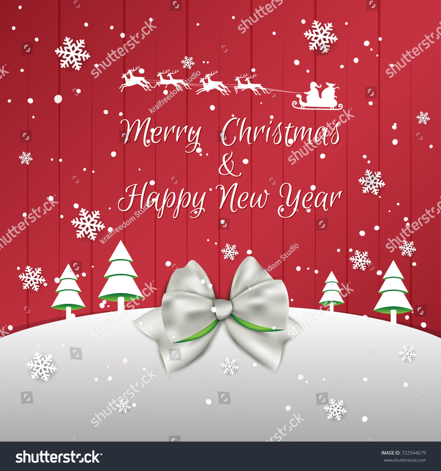 christmas and new year background xmas card vector illustration