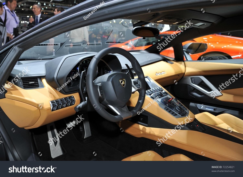 Geneva Mar 1 Interior New Lamborghini Stock Photo 72254821 ...
