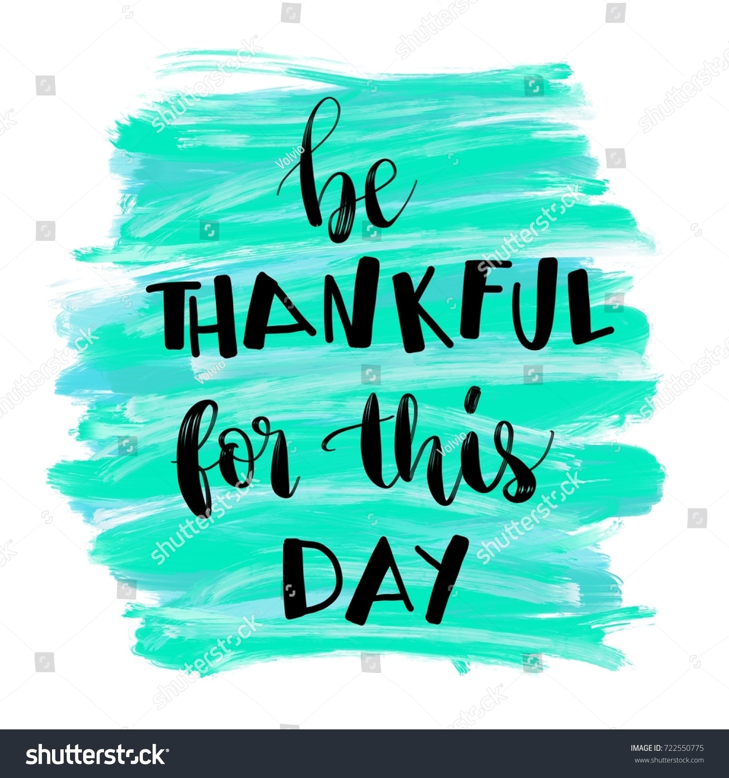 Inspirational Message Of The Day Be Thankful This Day Inspirational Message Stock Illustration