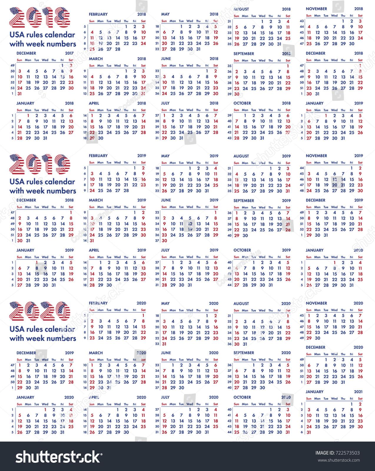 Calendar Design Rules : Calendar grid american stock vector