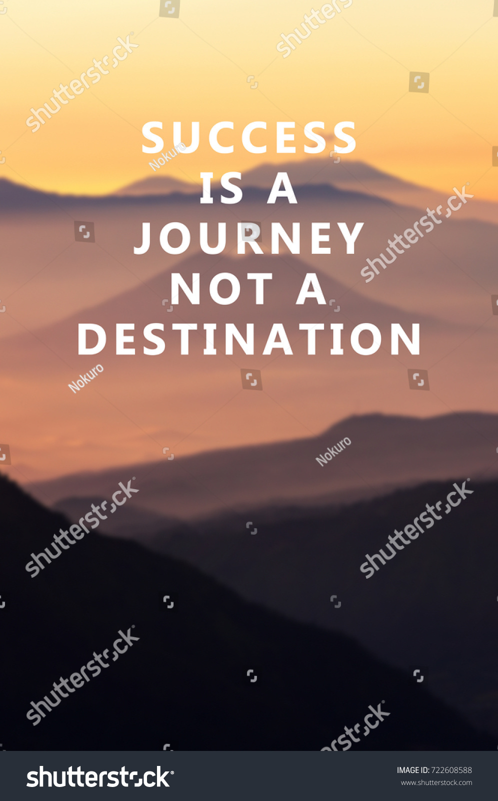 Quotes Journey Life Motivational Inspirational Quotes Success Journey Stock Photo
