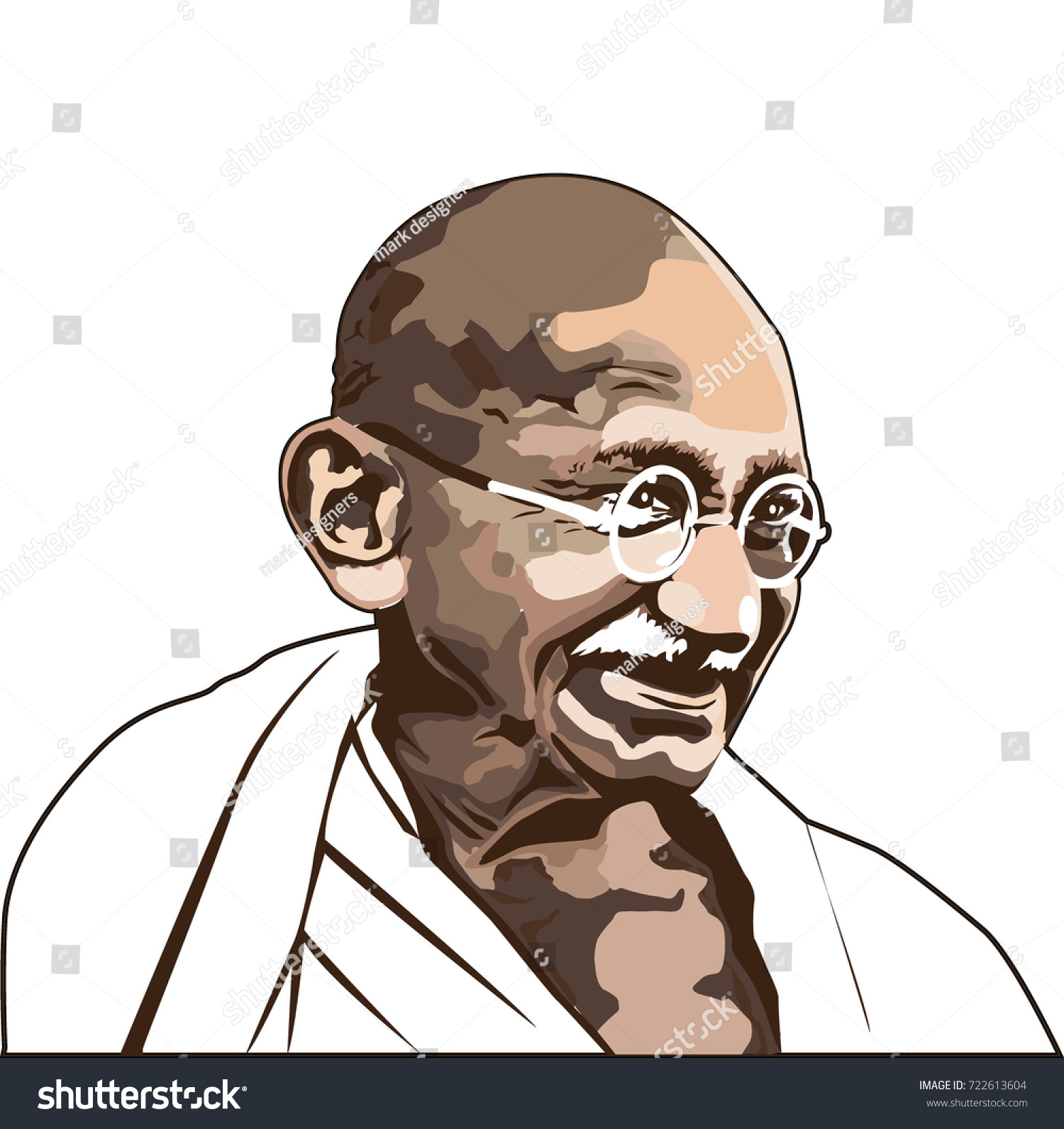 Gandhi indias father of the nation mahatma gandhi vector image leader of the