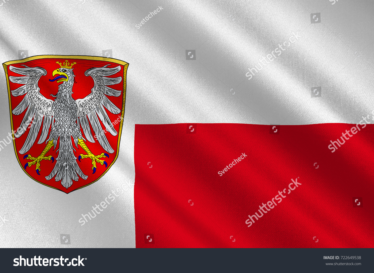 flag frankfurt main metropolis largest city stock illustration 722649538 shutterstock. Black Bedroom Furniture Sets. Home Design Ideas