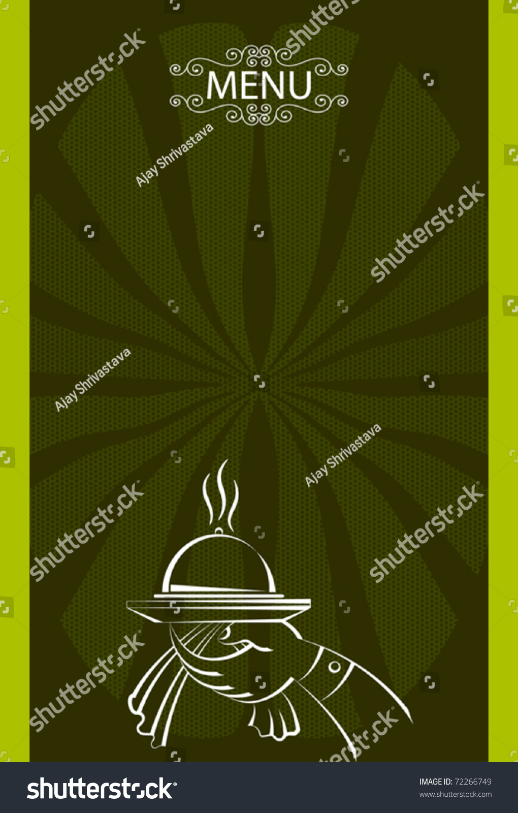 Menu card template stock vector illustration 72266749 for Frequent diner card template
