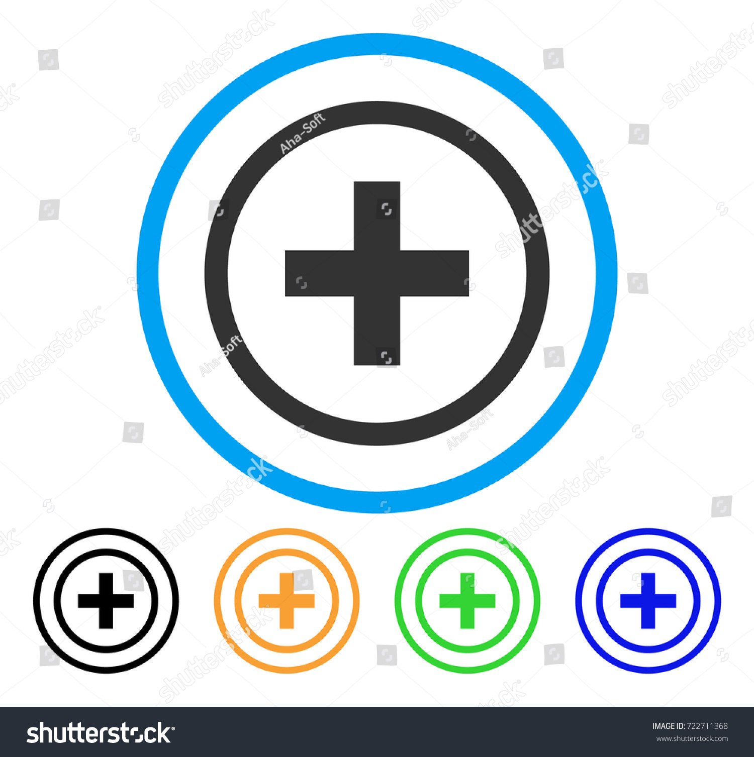 Add rounded icon style flat add stock vector 722711368 shutterstock add rounded icon style is a flat add gray symbol inside light blue circle with buycottarizona