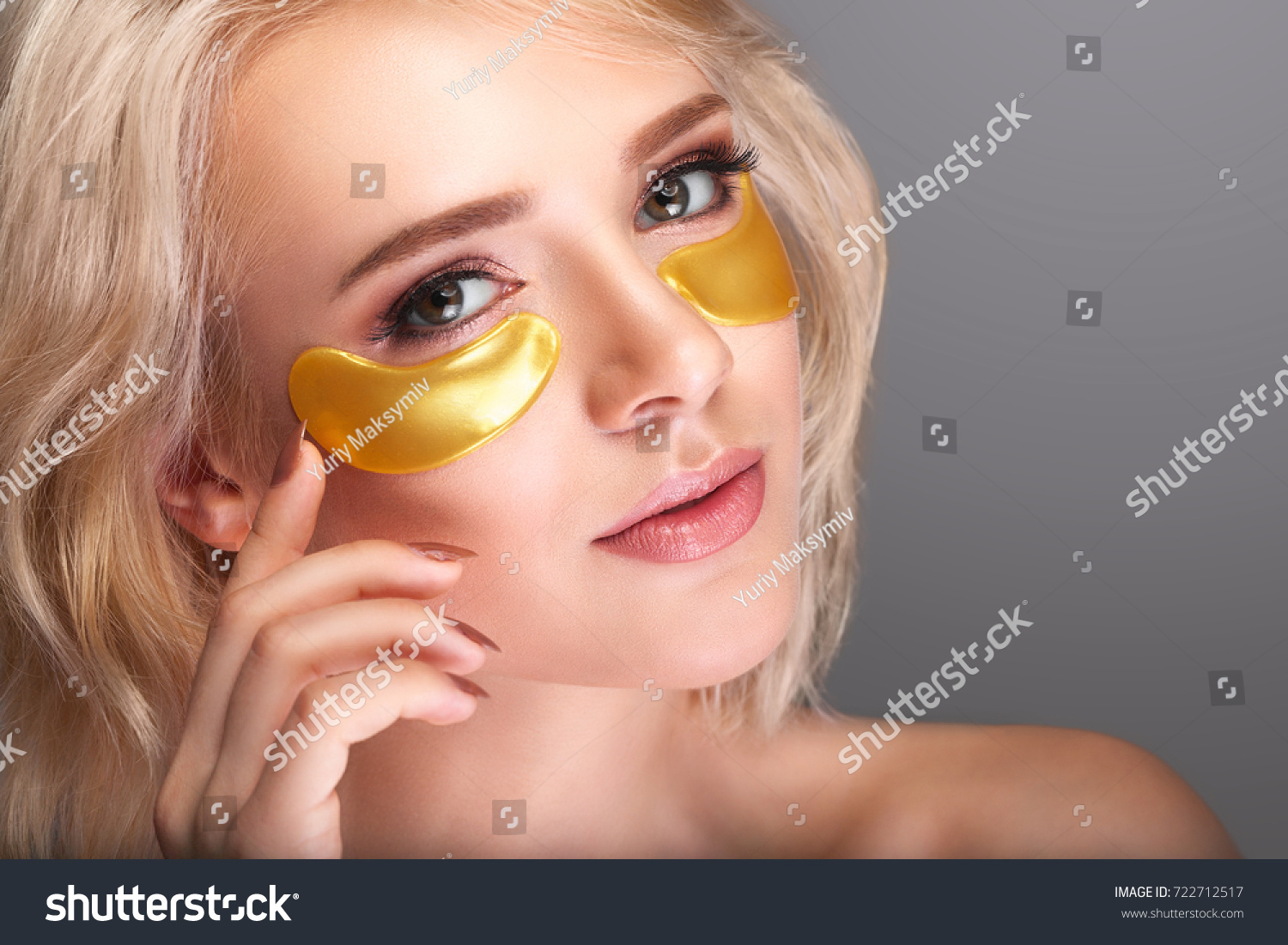 Woman Beauty Face Mask Under Eyes Stock Photo Edit Now 722712517