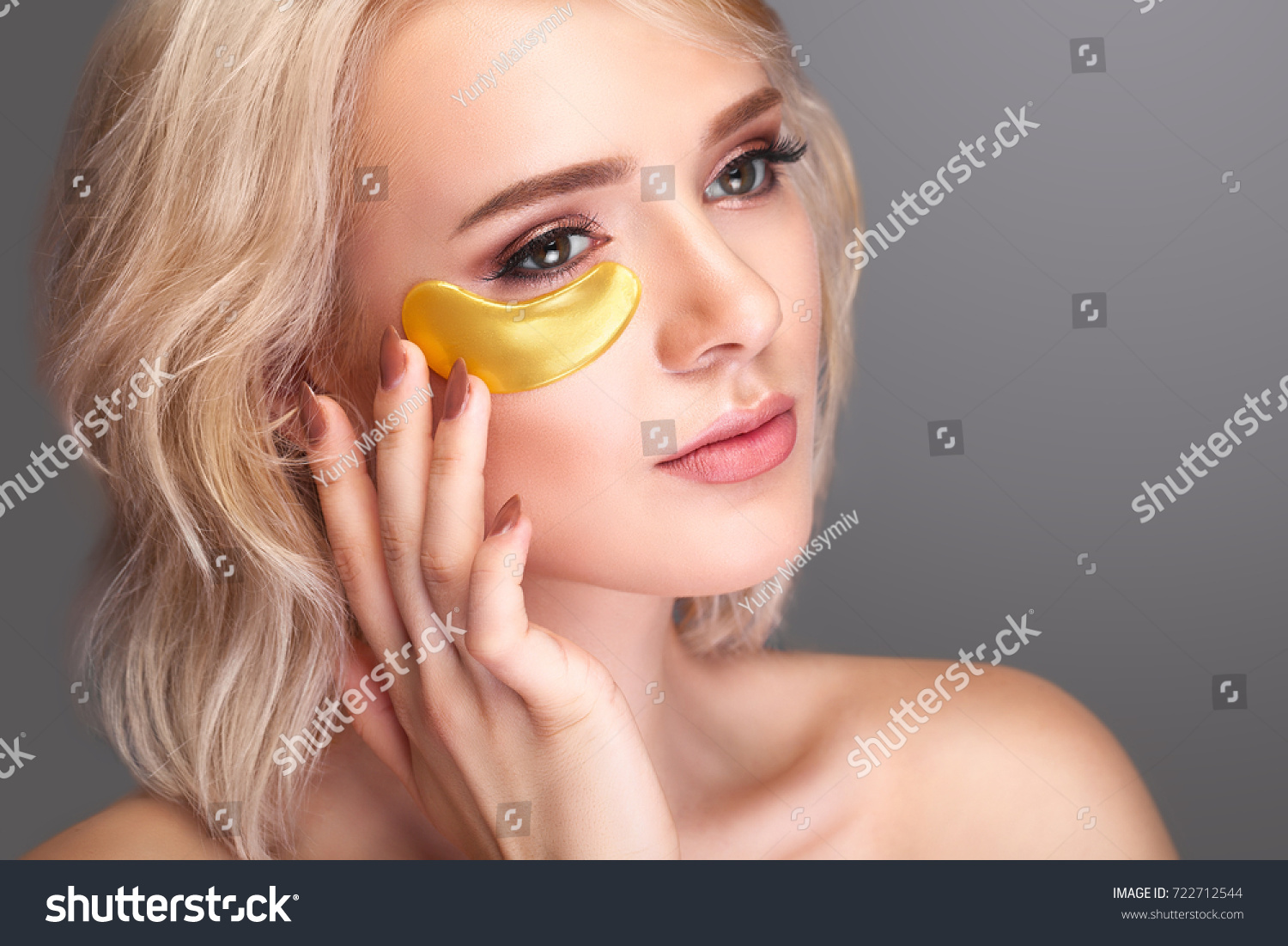Woman Beauty Face Mask Under Eyes Stock Photo Edit Now 722712544