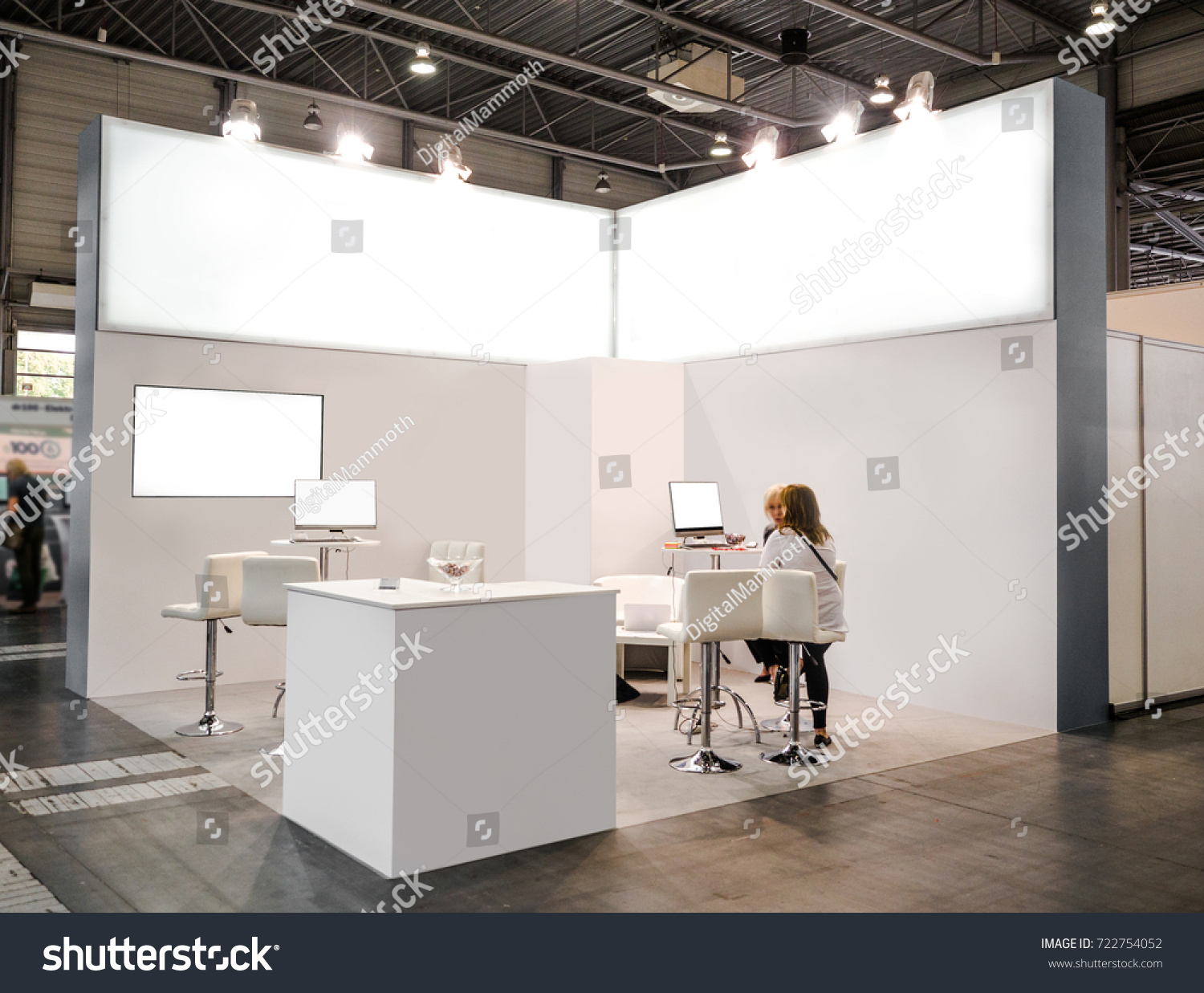 Creative Exhibition Stand : Blank mock creative exhibition stand design stock photo