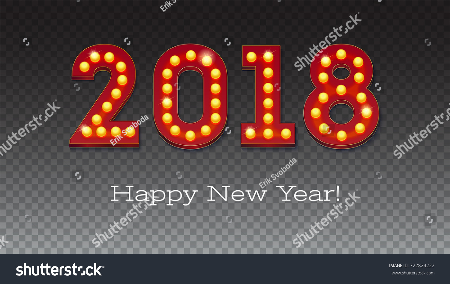 Greeting card new coming 2018 text stock vector 722824222 shutterstock greeting card with the new coming 2018 the text in the style of american casino kristyandbryce Images