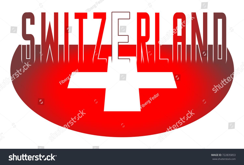 Illustration Logo Flag Switzerland Official Symbols Stock