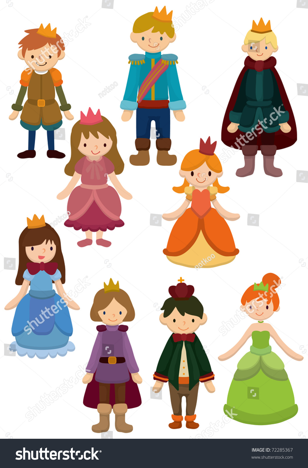 Cartoon prince and princess icon stock vector illustration - Images princesse ...